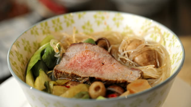 Asian Glass Noodle Soup with Beef and Pak Choi video