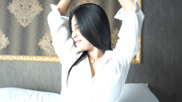 Asian in bedroom video