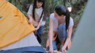 istock Asian mother teaching little girl about sustainability in the forest by camping.Happy family Spending time together outdoor.Teaching Children about Sustainability 1211277287