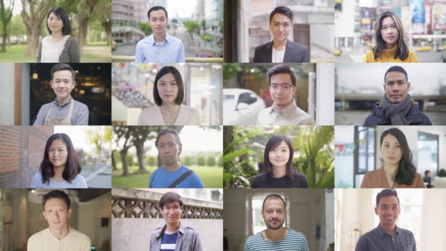 asian people of the world - composizione video stock e b–roll