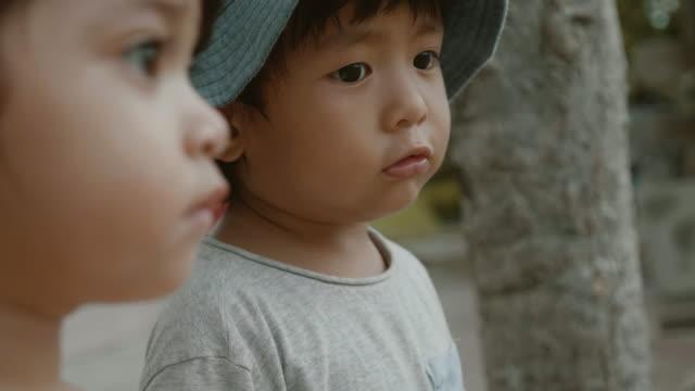 ビューを見てアジアの兄弟。 ビデオ