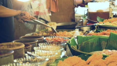 Asian Street Food :  Pad Thai Asian Street Food :  Pad Thai thailand stock videos & royalty-free footage