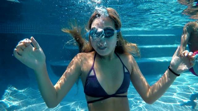 Asian Teen Under Water Fun video
