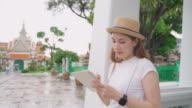 istock Asian woman Enjoying for landmark of Bangkok Wat Phra Kaeo in Bangkok City 1190107543
