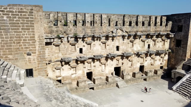 Aspendos amphitheatre video