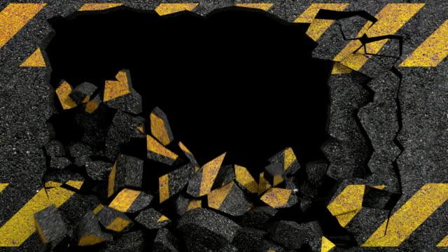 asphalt crack hazard video