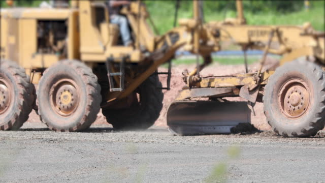 Asphalt Road Construction and Street road work place with bulldozer prepare gravel video