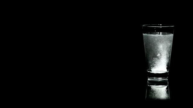 Aspirin in a water glass video