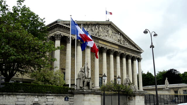 Assembly National and former Palais Bourbon video