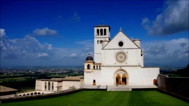 assisi kilisesi - fransa kralı i. fransuva stok videoları ve detay görüntü çekimi