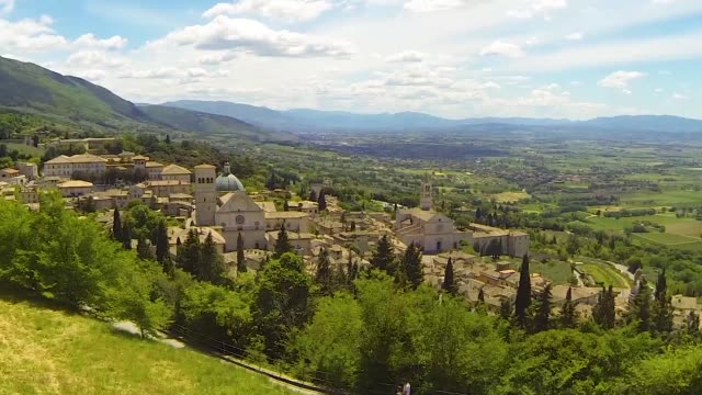 assisi landscape view video