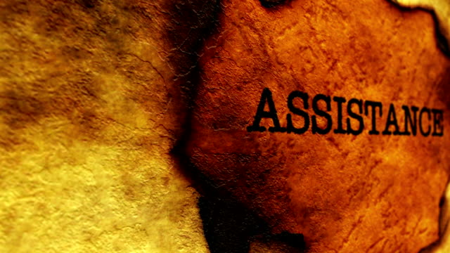 Assistance text on paper hole video