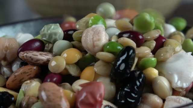 assortment of legumes - vegetarian stock videos & royalty-free footage