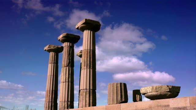 assos (behramkale),  turkey - greek architecture stock videos & royalty-free footage