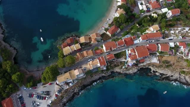 Assos village in Kefalonia video