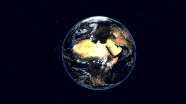 asteroid attack the earth 4k video