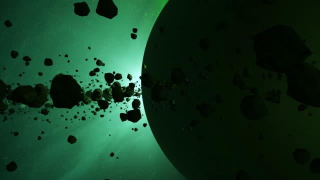 asteroid belt - orbitare video stock e b–roll