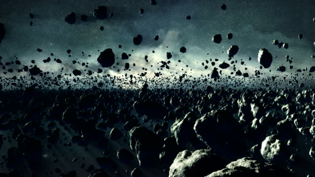 asteroide campo - pietra roccia video stock e b–roll