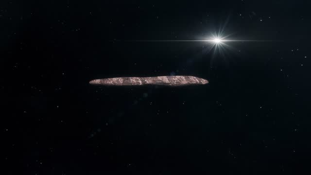 Asteroid Oumuamua Travelling Through Space video
