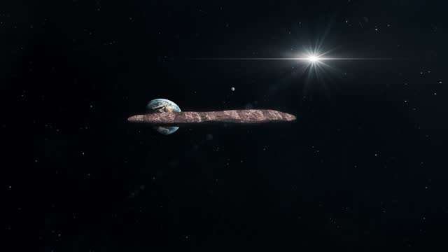 Asteroid Oumuamua Travelling Through The Solar System video