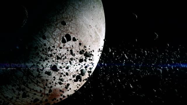 asteroids near europa - jowisz filmów i materiałów b-roll