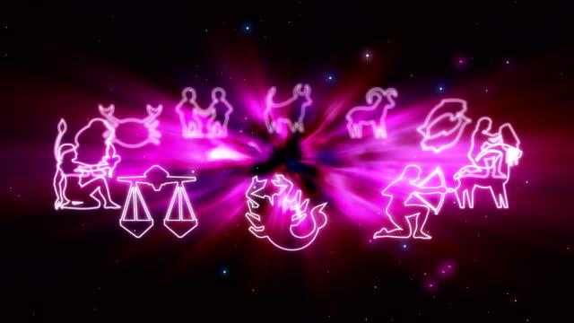 vídeos de stock e filmes b-roll de sinais astrológicos - astrologia
