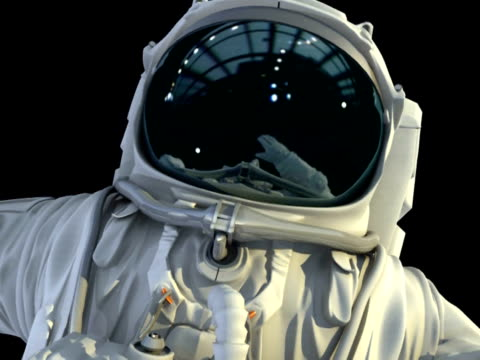 Astronaut in open space video