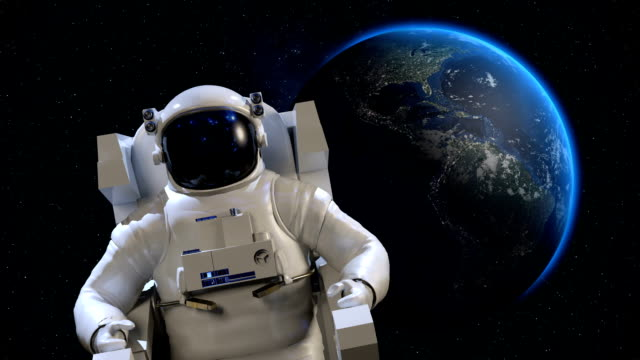 Astronaut in Space video
