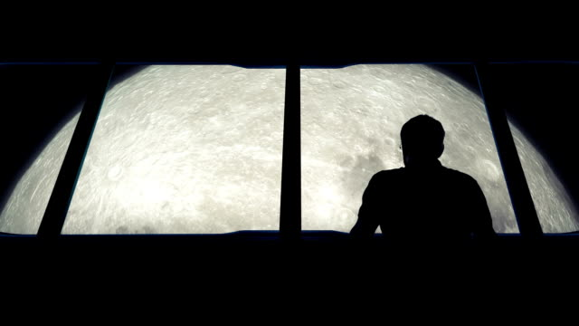 Astronaut Looks At Moon From Shuttle video