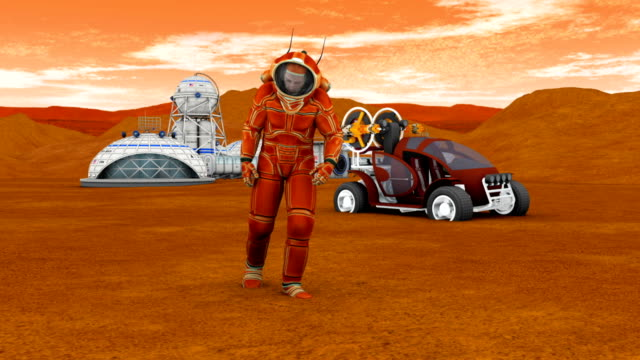 Astronaut on Mars video