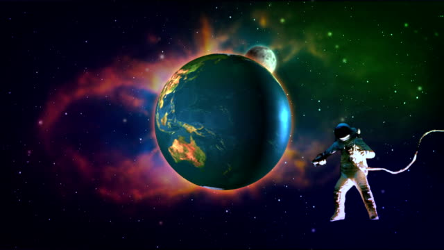 astronaut on space video