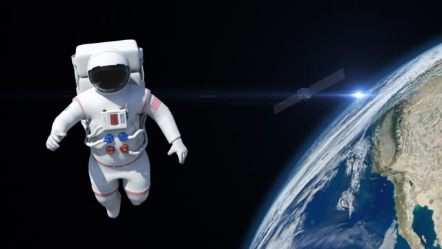 Astronaut On Spacewalk video