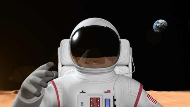 Astronaut On The Mars Surface video