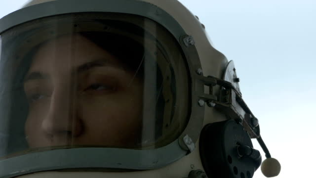 Astronaut Woman is Smiling video