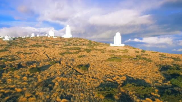 Astronomical observatory on Mount Teide Tenerife Spain video