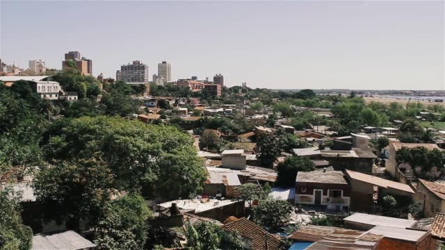 asuncion city, the capital and largest city of paraguay. - парагвай стоковые видео и кадры b-roll