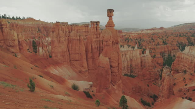 At Bryce Canyon National Park, Peek a boo trail video