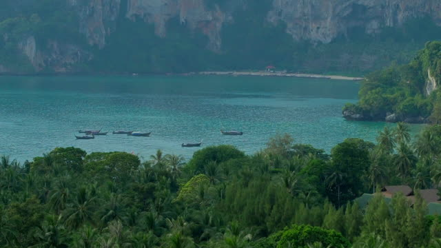 At Viewpoint near Railay Beach, Thailand video