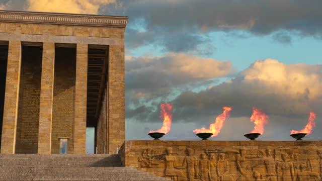 atatürk-mausoleum - ankara türkei stock-videos und b-roll-filmmaterial