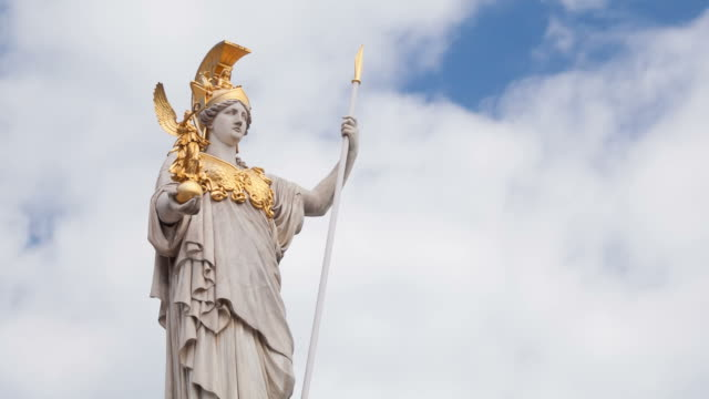 athena, goddess of greek mythology - greek architecture stock videos & royalty-free footage