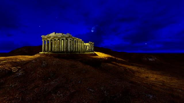 Athena Parthenon At Night video