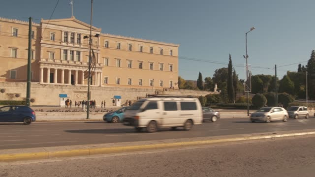 Athens 4K footage - Syntagma square and the Greek Parliament video