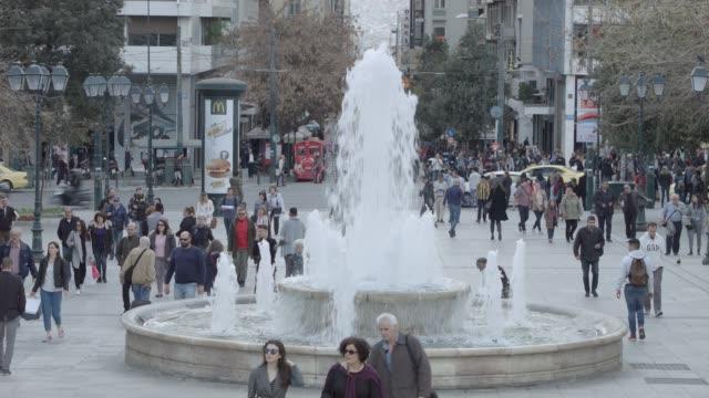 Athens 4K RAW footage - people at Syntagma square, Plaka, Ermou Street, Monastiraki - telephoto lense video