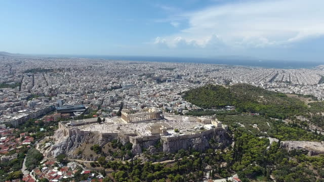 Athens Acropolis aerial view video
