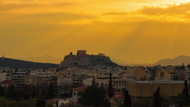 Athens cityscape video