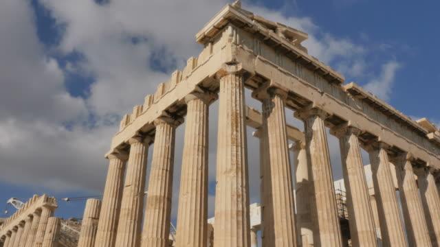 athens greece parthenon temple on athenian acropolis - greek architecture stock videos & royalty-free footage