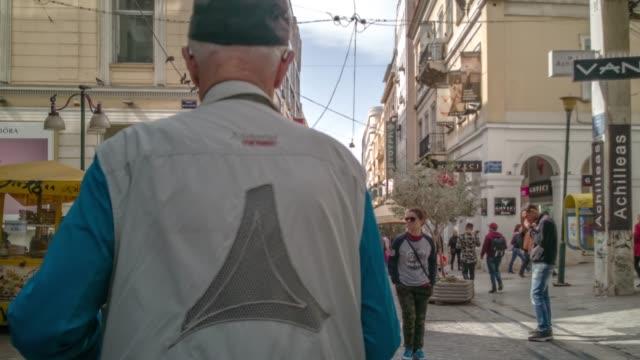 Athens Hyper lapse 4K RAW footage light graded - Syntagma square, Plaka, Ermou Street, Monastiraki video