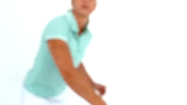 Athlète jouer au Badminton - Vidéo