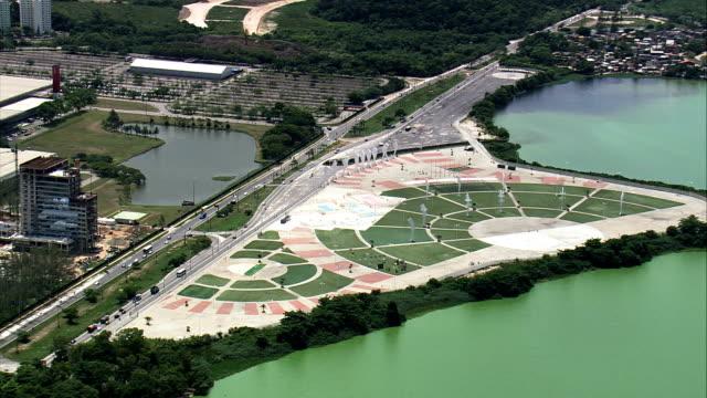 Parque Dos Atletas  - Aerial View - Rio de Janeiro, Brazil video