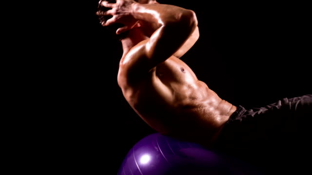 Athletic macho saltar a la cuerda Slow Motion - vídeo